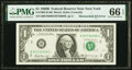 Error Notes:Mismatched Serial Numbers, Mismatched Serial Number Error Fr. 1905-B $1 1969B Federal Reserve Note. PMG Gem Uncirculated 66 EPQ.. ...