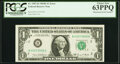 Error Notes:Mismatched Serial Numbers, Mismatched Serial Number Error Fr. 1907-B $1 1969D Federal Reserve Note. PCGS Choice New 63PPQ.. ...