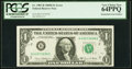 Error Notes:Mismatched Serial Numbers, Mismatched Serial Number Error Fr. 1907-B $1 1969D Federal Reserve Note. PCGS Very Choice New 64PPQ.. ...