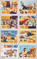 """Movie Posters:Fantasy, The 3 Worlds of Gulliver (Columbia, 1960). Very Fine+. Lobby Card Set of 8 (11"""" X 14""""). Fantasy.. ..."""