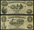 Obsoletes By State:Indiana, Lebanon, IN- Boone County Bank $1; $2 Oct. 1, 1860 Wolka 1285-01; -02 Very Good-Fine.. ... (Total: 2 notes)