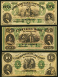 Obsoletes By State:Louisiana, New Orleans, LA- Citizens' Bank of Louisiana $5 18__ Remainder Crisp Uncirculated;. Shreveport, LA- Citizens' Bank of ... (Total: 3 notes)