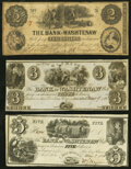 Obsoletes By State:Michigan, Ann Arbor, MI- Bank of Washtenaw $2 (issued); $3; $5 (Remainders) 1835-1854 Very Good; Crisp Uncirculated; About Uncircula... (Total: 3 notes)