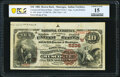 National Bank Notes:Oklahoma, Muscogee, IT - $10 1882 Brown Back Fr. 490 The Commercial National Bank Ch. # (W)5236 PCGS Banknote Choice Fine 15....