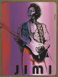 """Music Memorabilia:Original Art, Jimi Hendrix Limited Edition Print (1974). By Earl Newman, 17"""" x 23"""" print featuring the Rock legend (in, appropriately eno..."""