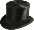 "Movie/TV Memorabilia:Costumes, Dr. Jekyll and Mr. Hyde Top Hat, Worn by Fredric March. ""I'll showyou what horror means!"" vowed Fredric March in Dr. Jeky..."