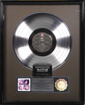 "Music Memorabilia:Awards, Poison ""Look What the Cat Dragged In"" RIAA Platinum Album Award.Presented to KWIC by the RIAA to commemorate the sale of on..."