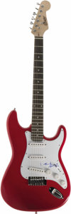 Musical Instruments:Electric Guitars, Rolling Stones Keith Richards Autographed Guitar. A red Copleysix-string electric guitar signed by Richards in blue marker ...