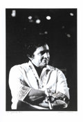 "Music Memorabilia:Photos, Johnny Cash Limited Edition Photo. A b&w 13"" x 19"" photo ofCash by Stephen F. Verona, #1 in a limited edition of 20, number..."