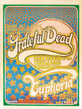 Music Memorabilia:Posters, Grateful Dead Euphoria Concert Poster and Postcard Group (1970).The stars all come out to play on this poster and postcard ...(Total: 3 )