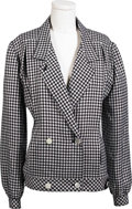 Movie/TV Memorabilia:Costumes, Ava Gardner Dress Jacket. A navy-and-white checked double-breasteddress jacket by Loewe of Madrid, owned and worn by Ava. I...