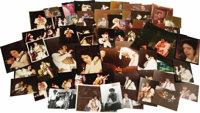 """Elvis Snapshots From Vernon Presley's Personal Collection. Approximately 75 color snapshots and one color 8"""" x10&qu..."""