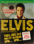 Music Memorabilia:Memorabilia, Elvis Presley Comeback Special Advertising Standee. Deeply dissatisfied with the direction his career had taken over the cou...
