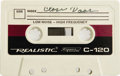 """Music Memorabilia:Recordings, Vernon Presley Demo Tape. A cassette tape featuring Elvis Presley's father singing """"Close Door"""" -- the only known recording ..."""