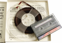 Interview Recording of Elvis Presley and His Parents. A reel-to-reel tape recording of a 1956 radio interview featuring...