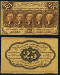 Fr. 1282SP 25¢ First Issue Narrow Margin Pair Choice About New