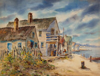 Henry Martin Gasser (American, 1909-1981) Rockport Inlet Watercolor on paper 21-5/8 x 28 inches (54.9 x 71.1 cm)