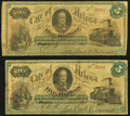 Helena, AR- City of Helena $5 1874 Rothert 280-3 Two Examples Very Good
