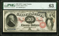 Large Size:Legal Tender Notes, Fr. 128 $20 1875 Legal Tender PMG Choice Uncirculated 63.. ...