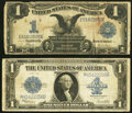 Large Size:Silver Certificates, Fr. 230 $1 1899 Silver Certificate Very Good-Fine;. Fr. 237 $1 1923 Silver Certificate Fine.. ... (Total: 2 notes)