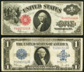 Large Size:Legal Tender Notes, Fr. 39 $1 1917 Legal Tender Very Fine-Extremely Fine;. Fr. 237 $1 1923 Silver Certificate Fine-Very Fine.. ... (Total: 2 notes)