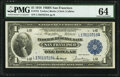 Large Size:Federal Reserve Bank Notes, Fr. 744 $1 1918 Federal Reserve Bank Note PMG Choice Uncirculated 64.. ...