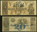 Obsoletes By State:Louisiana, New Orleans, LA- New Orleans Canal & Banking Co. $5; $20 18__ Remainders Crisp Uncirculated.. ... (Total: 2 notes)