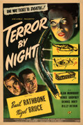 """Movie Posters:Mystery, Terror by Night (Universal, 1946). Fine+ on Linen. One Sheet (27"""" X 41"""").. ..."""
