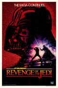 "Movie Posters:Science Fiction, Revenge of the Jedi (20th Century Fox, 1982). Very Fine+ on Linen. One Sheet (27"" X 41"") Advance Undated Style, Drew Struzan..."