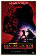 "Movie Posters:Science Fiction, Revenge of the Jedi (20th Century Fox, 1982). Rolled, Very Fine/Near Mint. One Sheet (27"" X 41"") Advance Dated Style, Drew S..."