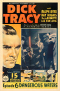 """Movie Posters:Serial, Dick Tracy (Republic, 1937). Fine on Linen. One Sheet (27"""" X 41"""") Chapter 6 -- """"Dangerous Waters."""". ..."""