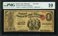 Saint Louis, MO - $1 Original Fr. 380a The National Bank of the State of Missouri Ch. # 1665 PMG Very G