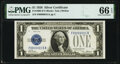 Low Serial Number 15 Fr. 1600 $1 1928 Silver Certificate. PMG Gem Uncirculated 66 EPQ