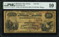 Boonton, NJ - $10 1882 Brown Back Fr. 484 The Boonton National Bank Ch. # 4274 PMG Very Good 10