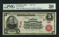 Cincinnati, OH - $5 1902 Red Seal Fr. 587 The Fourth National Bank Ch. # (M)93 PMG Very Fine 30