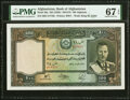 Afghanistan Bank of Afghanistan 100 Afghanis ND (1939) / SH1318 Pick 26a PMG Superb Gem Unc 67 EPQ