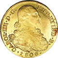 Colombia, Colombia: Carlos IV gold 8 Escudos 1806P-JF,...