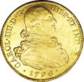 Colombia, Colombia: Carlos IV gold 8 Escudos 1796P-JF,...