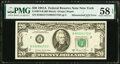 Error Notes:Mismatched Serial Numbers, Mismatched Serial Number Error Fr. 2074-B $20 1981A Federal Reserve Note. PMG Choice About Unc 58 EPQ.. ...