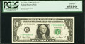Error Notes:Mismatched Serial Numbers, Mismatched Serial Number Error Fr. 1926-B $1 2001 Federal Reserve Note. PCGS Gem New 65PPQ.. ...