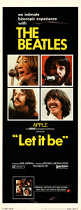 """Movie Posters:Rock and Roll, Let It Be (United Artists, 1970). Rolled, Very Fine-. Insert (14"""" X 36"""").. ..."""