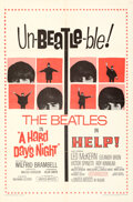 """Movie Posters:Rock and Roll, Help!/A Hard Day's Night Combo (United Artists, R-1965). Folded, Very Fine+. One Sheet (27"""" X 41"""").. ..."""