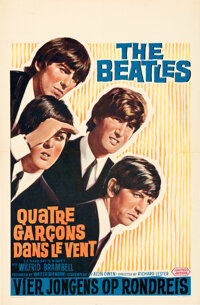 """A Hard Day's Night (United Artists, 1964). Very Fine on Linen. Belgian (16.5"""" X 25.25"""")"""
