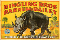 Ringling Bros. and Barnum & Bailey (Ringling Bros. and Barnum & Bailey Combined Shows, 1946). Folded, Very Fine...