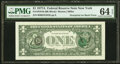 Error Notes:Third Printing on Reverse, Third Printing on Back Error Fr. 1910-B $1 1977A Federal Reserve Note. PMG Choice Uncirculated 64 EPQ.. ...