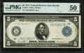 Large Size:Federal Reserve Notes, Fr. 847a $5 1914 Federal Reserve Note PMG About Uncirculated 50.. ...