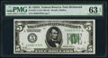 Small Size:Federal Reserve Notes, Fr. 1951-E $5 1928A Federal Reserve Note. PMG Choice Uncirculated 63 EPQ.. ...