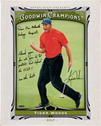 2013 Tiger Woods Signed UDA Goodwin Champions Display with Extraordinary Provenance