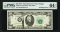 Error Notes:Ink Smears, Black Ink Smear on Face Error Fr. 2071-G $20 1974 Federal Reserve Note. PMG Choice Uncirculated 64 EPQ.. ...