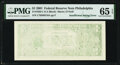 Insufficient Inking of Back Printing Error Fr. 1926-C $1 2001 Federal Reserve Note. PMG Gem Uncirculated 65 EPQ
